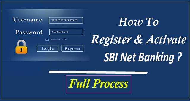 SBI Net Banking Online Registration Process(2020)