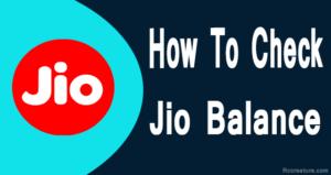 How to Check Jio Balance & Jio Internet Balance Check Number (2019)
